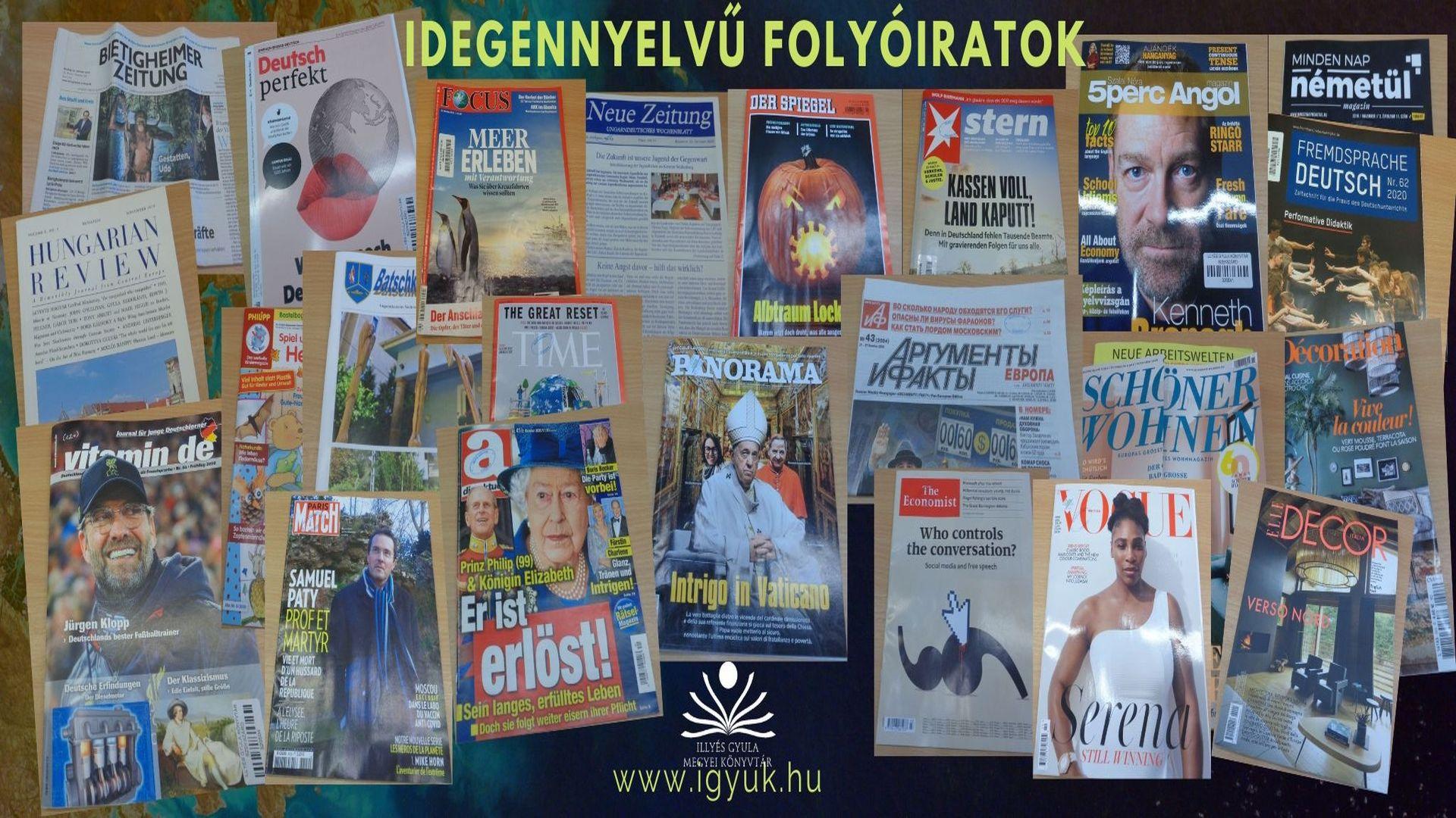 Idegennyelvű folyóirataink