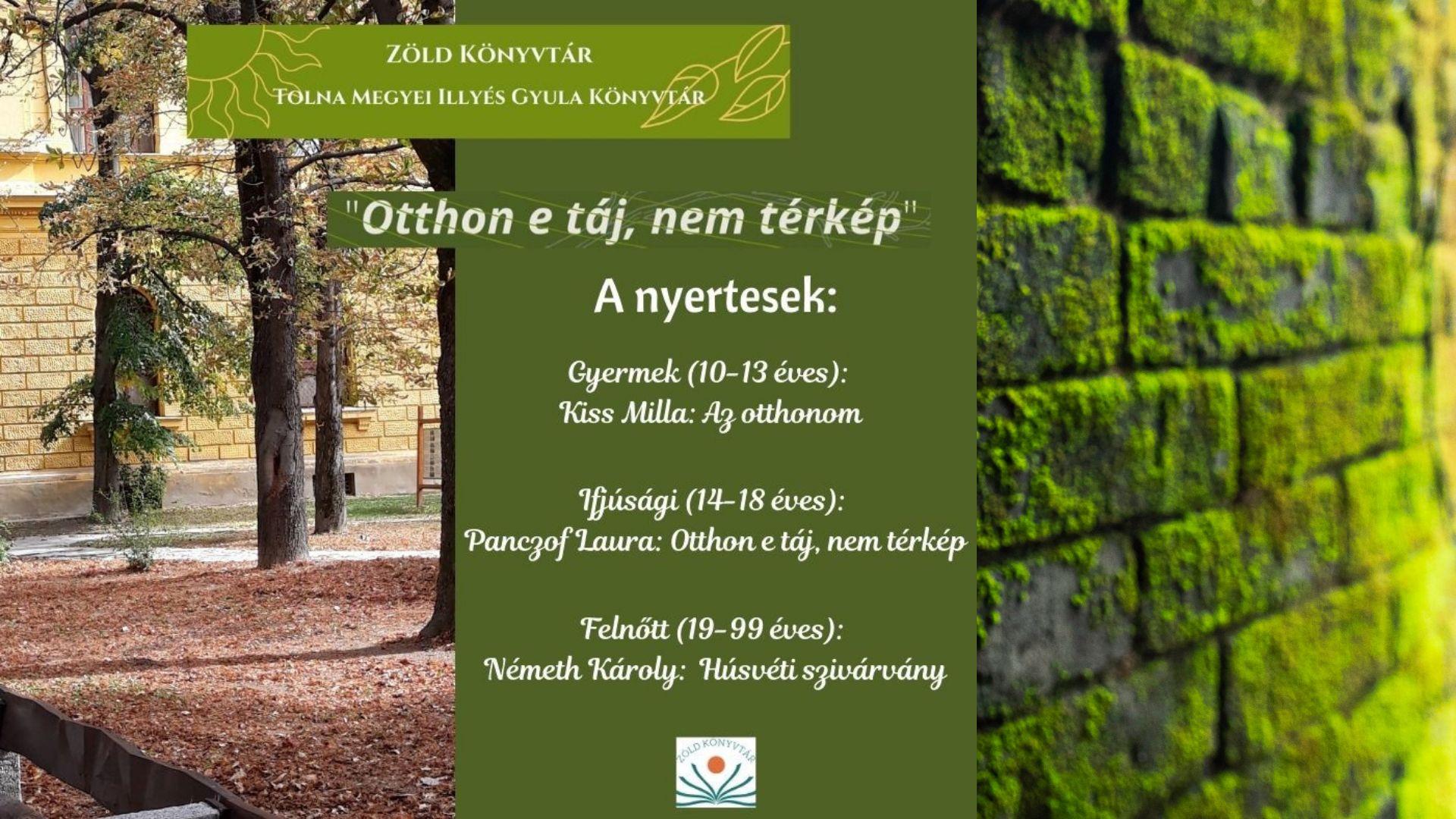 Zöld irodalmi pályázatunk nyertesei