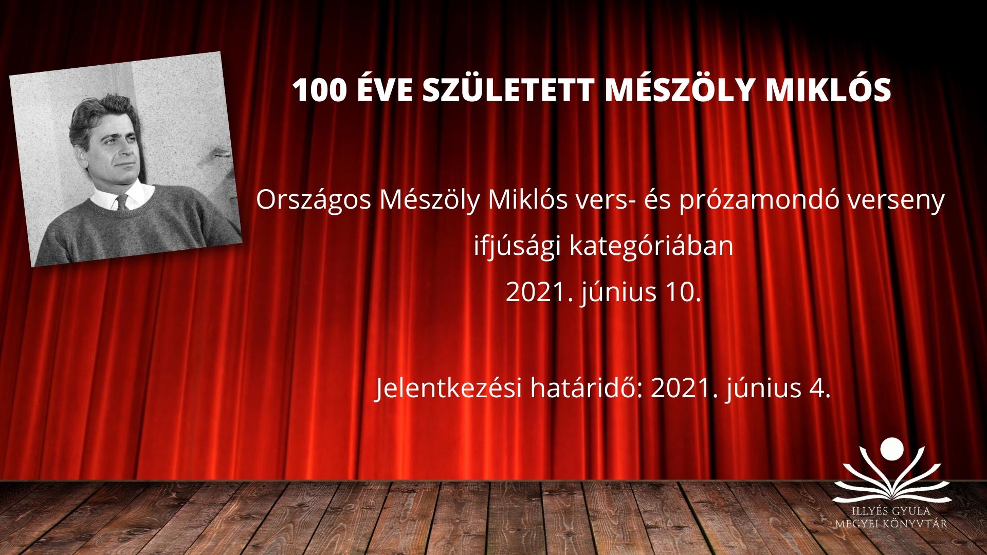 Mészöly Miklós Vers- és prózamondóverseny