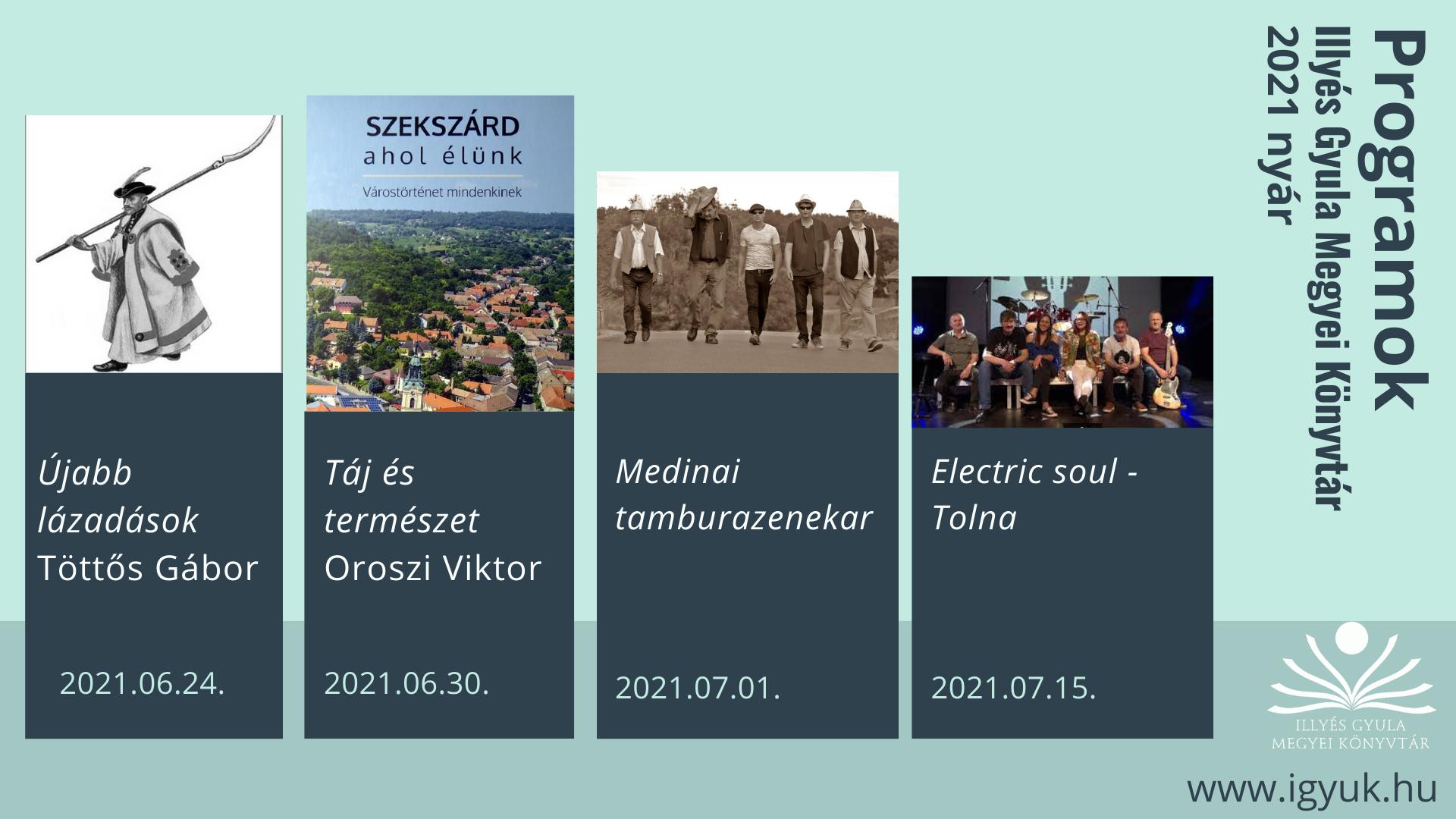 2021 Nyári programok
