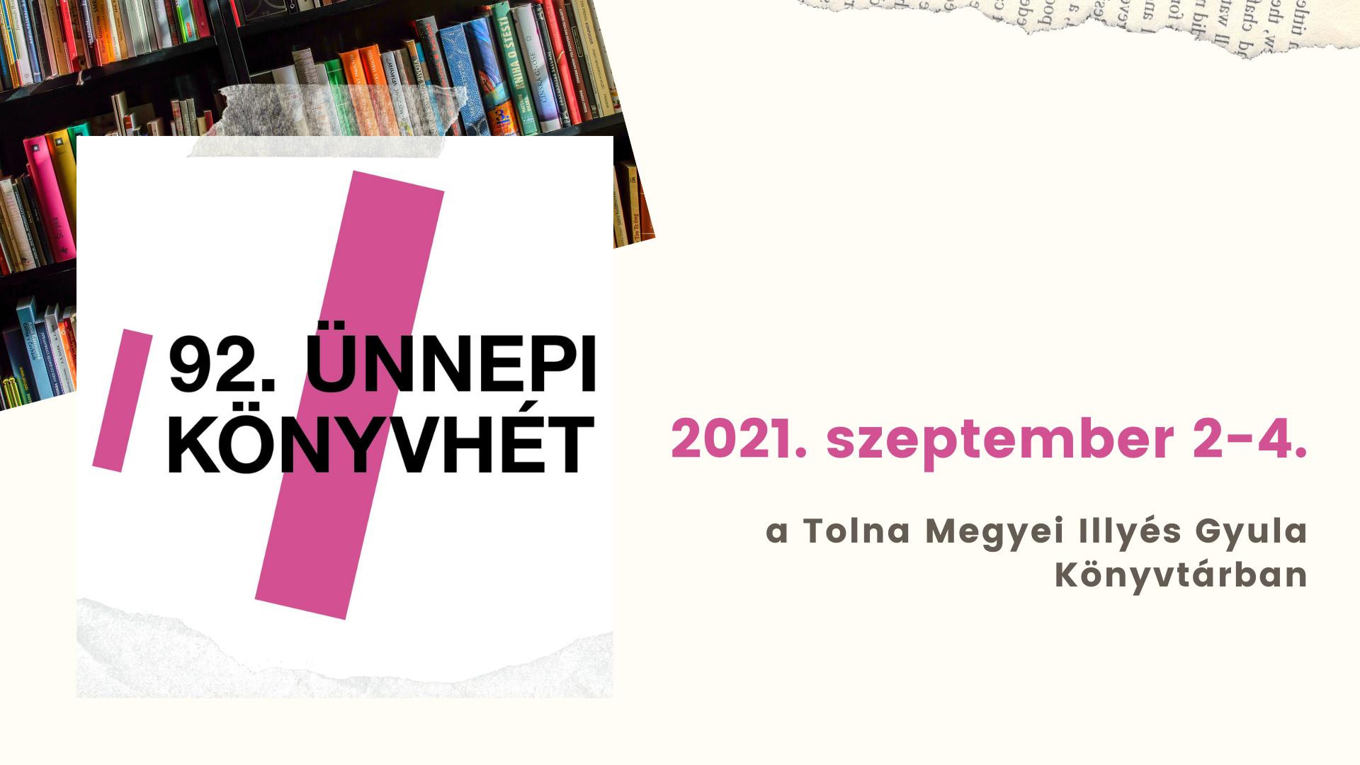 92. Ünnepi Könyvhét – 2021. szeptember 2-4.
