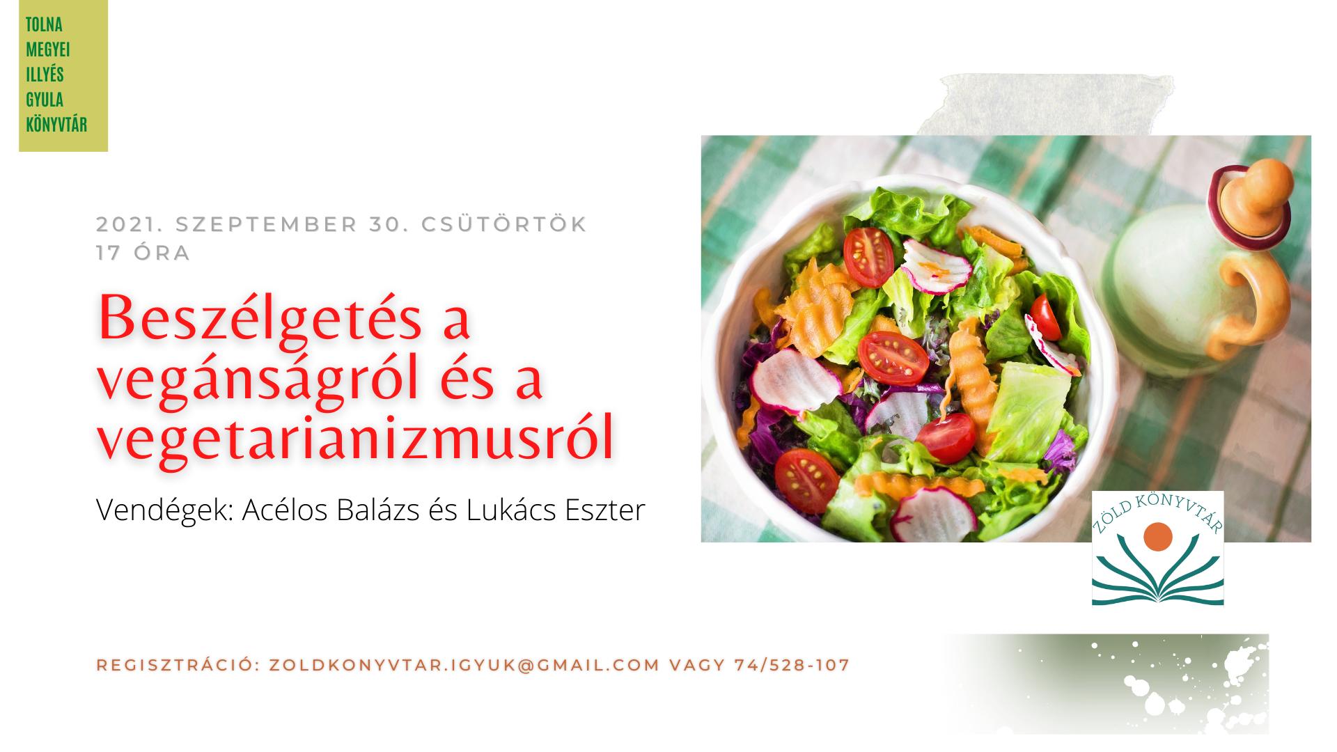 Beszélgetés a vegánságról és a vegetarianizmusról